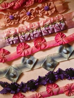 Some of the Fabulous trims you can sew with ribbons.