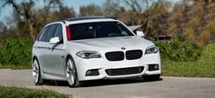 Alpine White BMW 5 Series Touring