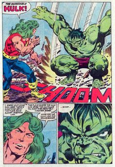 , Incredible Hulk page 14 by John Byrne & Bob. Comic Book Pages, Comic Book Artists, Comic Book Covers, Comic Books Art, Comic Art, Classic Cartoon Characters, Comic Book Characters, Marvel Characters, Comic Character