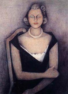 Image detail for -Rufino Tamayo / Retrato de la Señora Natasha Gelman / 1948 / Oleo y ...
