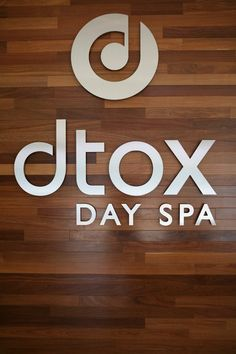 dtox day spa, Encino- beautiful sign. logo/brand design by special modern design #branding #logo