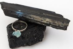Raw blue aquamarine ring, sterling silver, brazilian stone, everyday jewelry   $82,00