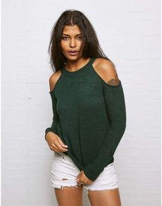 Aeo Don't Ask Why Cold Shoulder Sweater~CLICK TO BUY~