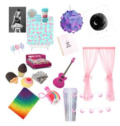 """""""Perfect room/house"""" by phdhs on Polyvore featuring interior, interiors, interior design, home, home decor, interior decorating, Cotton Candy, Victoria Classics, claire's and ban.do"""