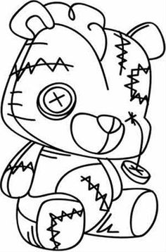 New Doll Tattoo Ideas Coloring Pages Ideas Teddy Tattoo, Teddy Bear Tattoos, Doll Drawing, Drawing Sketches, Vodoo Tattoo, Adult Coloring Pages, Coloring Books, Voodoo Doll Tattoo, Voodoo Dolls