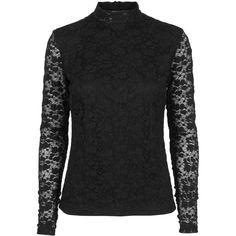 Gabriella lace top #elegant #lace #black #pretty #transparent #top #gorgeous