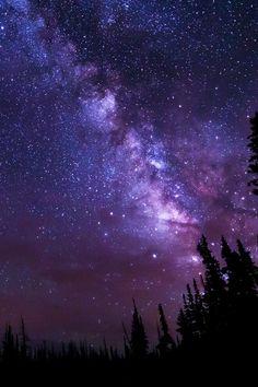 Purple Night Sky By Chad Dutson