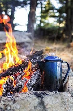 It tastes better when brewed over a campfire in the woods. by blue mountain thyme on Flickr