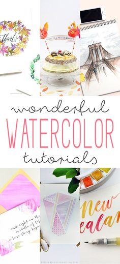 Wonderful Watercolor Tutorials - The Cottage Market