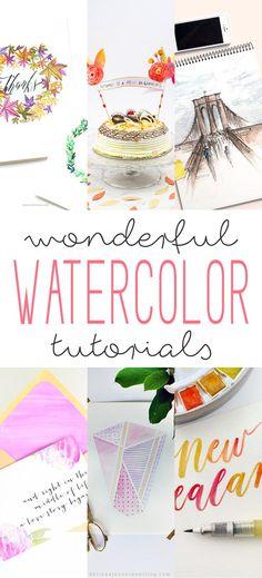 Wonderful Watercolor Tutorials - The Cottage Market