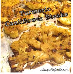 delicious roasted turmeric cauliflower steaks from simplefitfoodie.com