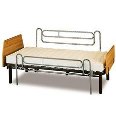 BARANDILLA DESLIZANTE PARA CAMA - REF: A4002: Están fabricadas en acero cromado. Se trata de un elemento indispensable para un paciente encamado para evitar su caída y el que se baje de la cama sin supervisión del cuidador.