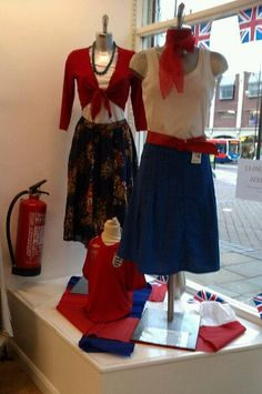 RED+WHITE+BLUE display by me.age uk@stockton-on-tees