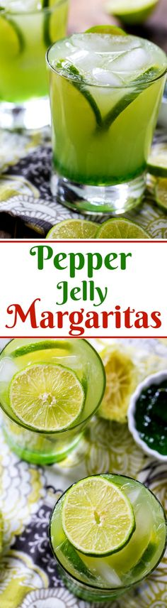 Green Pepper Jelly Margarita- The sweet and tangy pepper jelly turns it into a sweet heat treat.