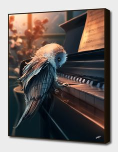 Amazing Digital art painting of an owl playing the piano. Illustrations, Illustration Art, Wow Art, Fantasy Creatures, Oeuvre D'art, Amazing Art, Awesome, Fantasy Art, Art Drawings