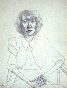 Alice Neel, Peggy, pencil on paper, 1943