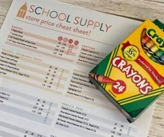 Back to School Cheat Sheet is HERE! First Aid Kit Supplies, School Supplies, Christmas Lanterns, Christmas Paper, Paper Flowers Craft, Flower Crafts, Homemade Brownie Mix, School Supply Store, Back To School Deals