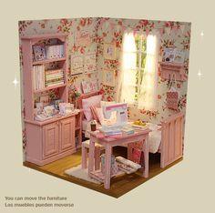 ☆☆☆  Nerea Pozo Art.  Escala 1: 6. PINK CRAFT BEDROOM
