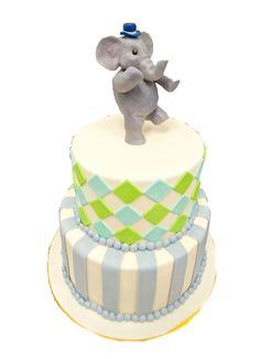 Elephant Marching 2 Tier custom cake