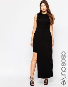 ASOS+CURVE+Bodycon+Dress+with+Spliced+Skirt