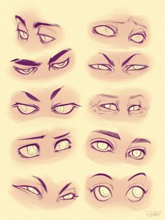 AnatoRef | Cartoon Eyes Top & 2 (Left, Middle) Row 2 Right,...: