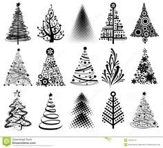 Modern Christmas Trees - Download From Over 27 Million High Quality Stock Photos, Images, Vectors. Sign up for FREE today. Image: 12044772