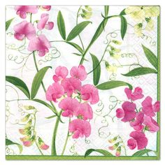 Sweet Peas Luncheon Napkins