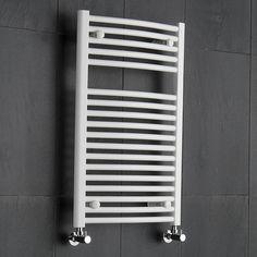 Hudson Reed - Radiador Toallero Curvo en Acero Blanco Para Baño / Cocina - 800 x 500 mm - 419 Vatios - Calentador Toallas Decorativo - 18 Barras - Calefacción Central Agua - Proyección 97 mm - Montaje Mural: Amazon.es: Hogar