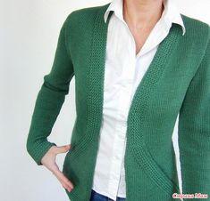 Вязание кардигана Cross Pockets Cardigan от дизайнера von Hinterm Stein - Вязание - Страна Мам
