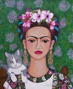 Frida cat lover closer