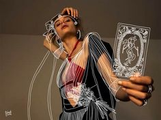 <p>Austrian-Moroccan illustrator Dr Propolus aka Ilias Walchshofer finds vintage, sexy or inspiring editorials and let his imagination wandering while drawing simple white lines and smirky details, Th