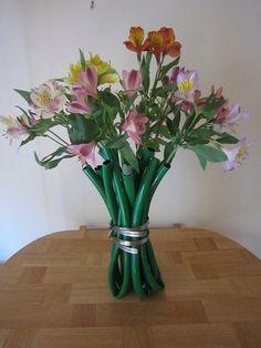 Silk Square Scarf - lillies in a vase-2 by VIDA VIDA RlILa5qYA