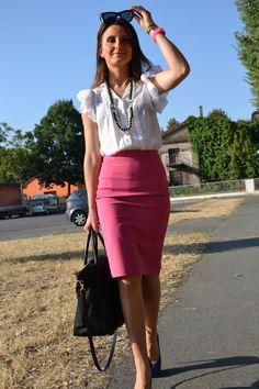 hot pink skirt - Google Search