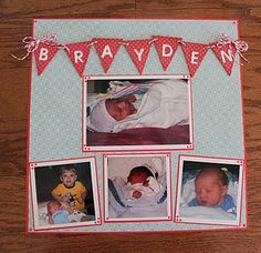 Lots of baby layouts on this site.