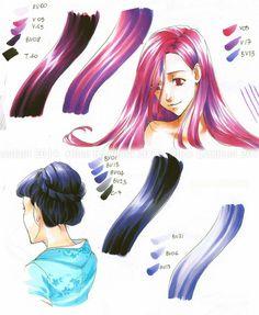 Copic Italia: Tutorial: come colorare i capelli in stile manga - 3° parte