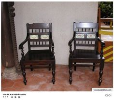 Rose wood chairs Indian Furniture, Wooden Furniture, Furniture Design, Wood Chairs, Canvases, Sofa, Interiors, Antiques, Easy