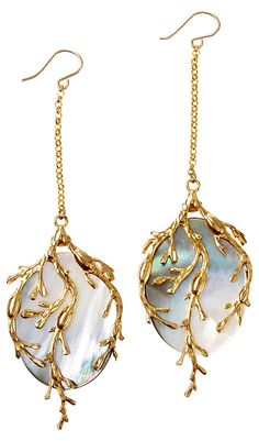 One Kings Lane Live In Color Art Nouveau Earrings Gray