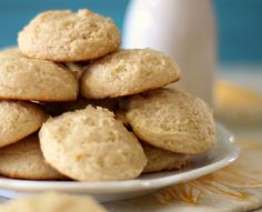 Lemon Cookies #SundaySupper - A light, fluffy, low calorie lemon flavored cookie made with cream cheese.