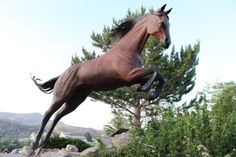 Horse Art exhibit in Ruidoso.  Free Spirts at Noisy Water, by Dave McGary located next to Hubbard Museum of the American West in Ruidoso Downs. Featuring 8 large bronze sculptures of galloping horses. One of New Mexico's most photographed art exhibits.
