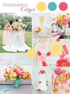 Bright and Colorful Preppy Summer Wedding in Fuchsia, Yellow, and Aqua with Floral Print and Gorgeous Peony Floral Designs!  #wedding #bride #bridesmaids #peony #preppy #summer #palette #floraldesign #floralprint