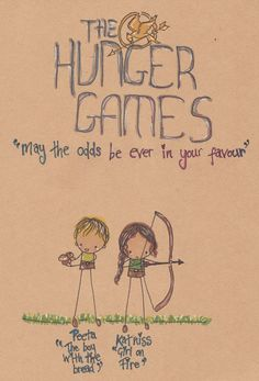 The Hunger Games: Art: Drawing: Sketch: Katniss and Peeta: Katniss: Katniss Everdeen: Peeta: Peeta Mellark: The Hunger Games by Pinkie-Perfect.deviantart.com on @deviantART