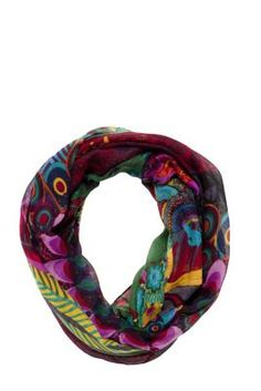 Desigual Women's Seduci scarf. This colourful scarf will breathe life into your look this season. Measurements: 190x50 cm. / 74.1