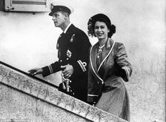 Happy together: The Queen and Prince Philip are clearly enjoying married life as they step out in Malta in 1949 Elizabeth Philip, Princess Elizabeth, Princess Margaret, Queen Elizabeth Ii, Die Queen, Hm The Queen, Her Majesty The Queen, Honeymoon In Scotland, Queen Elizabeth