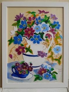 Картины цветов ручной работы. Ярмарка Мастеров - ручная работа. Купить Букет в белой вазе. Handmade. Ручная работа handmade