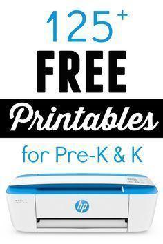 125 Free Printables for Pre-K and Kindergarten