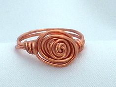 Copper Ring  Wire Wrapped by maryanncjewelry on Etsy