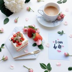 ✨❤️ I can do it❤️✨ Chasing the Monday blues away with this delicious watermelon lychee cake