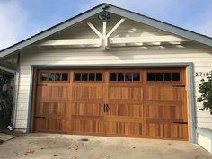 Dan LaRose (@pacificgaragedoors_vista) • Instagram photos and videos Faux Wood Garage Door, Old Garage, Garage Door Design, Wood Doors, Light Oak, Exterior Design, Dan, Powder, Track