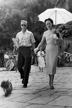 JULY 17 1951 - In Portofino with their dog Thalmet.