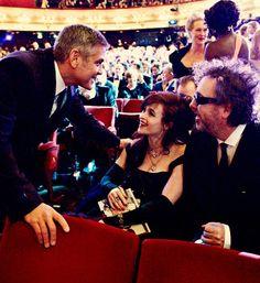 #Awesomeness George Clooney - Helena Bonham Carter - Tim Burton - Meryl Streep